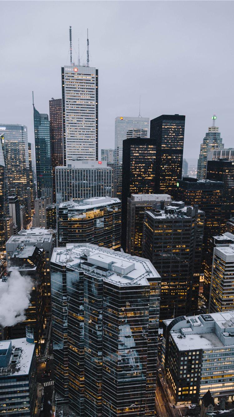 Toronto Financial District iPhone 8 wallpaper