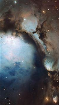 Blue Hole Nebula iPhone se wallpaper
