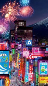Tokyo City In Cars 2 iPhone se wallpaper