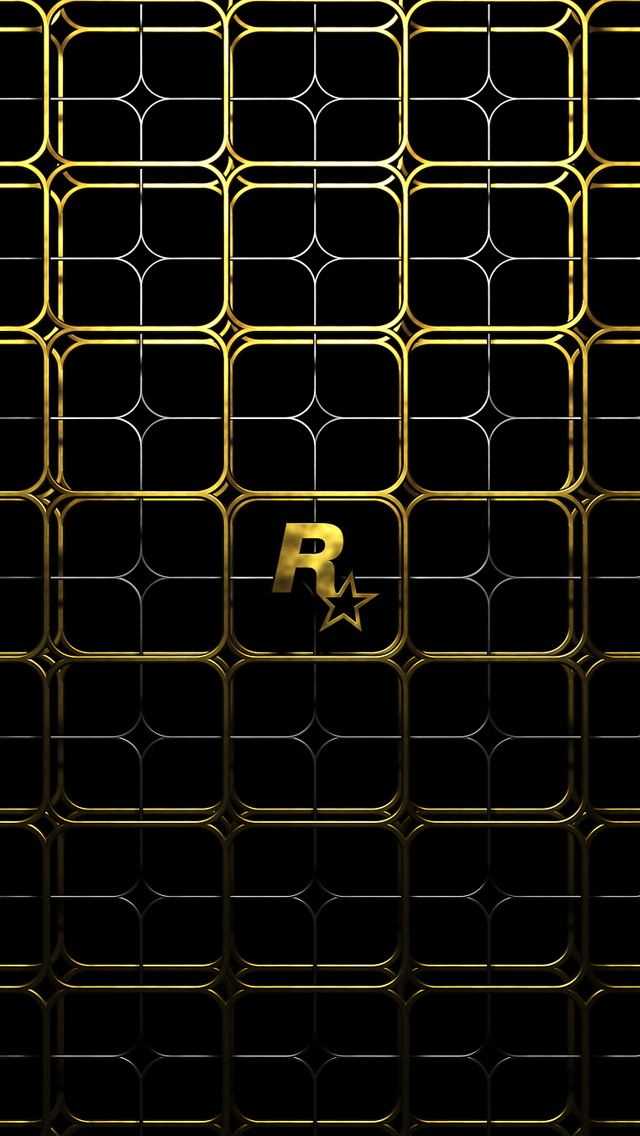 Gold Lattice IPhone Se Wallpaper