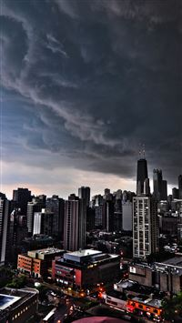 Storm Clouds Over Chicago iPhone se wallpaper
