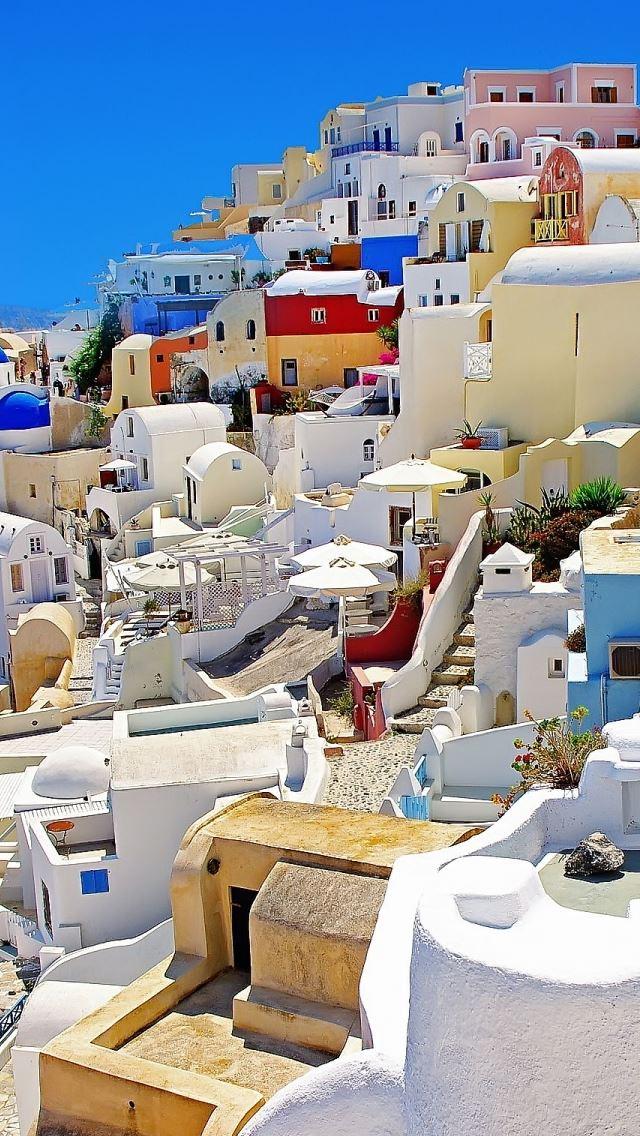 Santorini Oia Greece iPhone se wallpaper