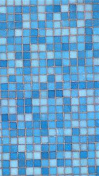 Blue Mosaic iPhone se wallpaper