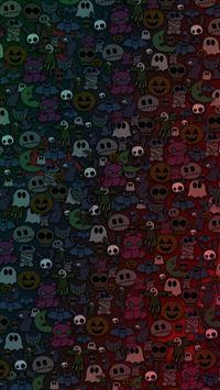Halloween Monsters iPhone 5(s/c)~se wallpaper