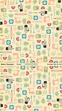 Cute Objects iPhone se wallpaper