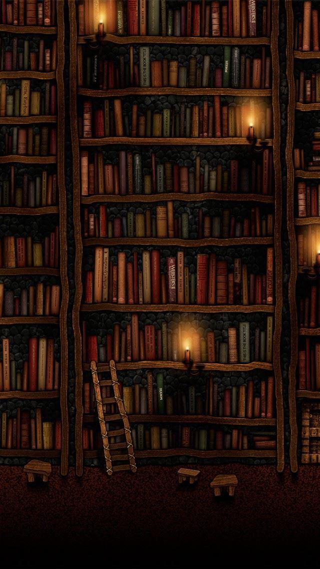 Bookshelves IPhone Se Wallpaper