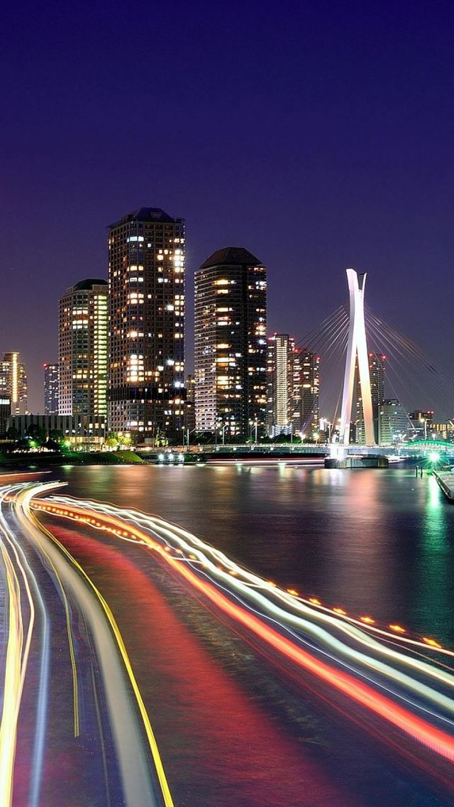 City Lights Tokyo IPhone Se Wallpaper