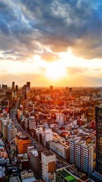 Japan tokyo cityscapes iPhone se wallpaper