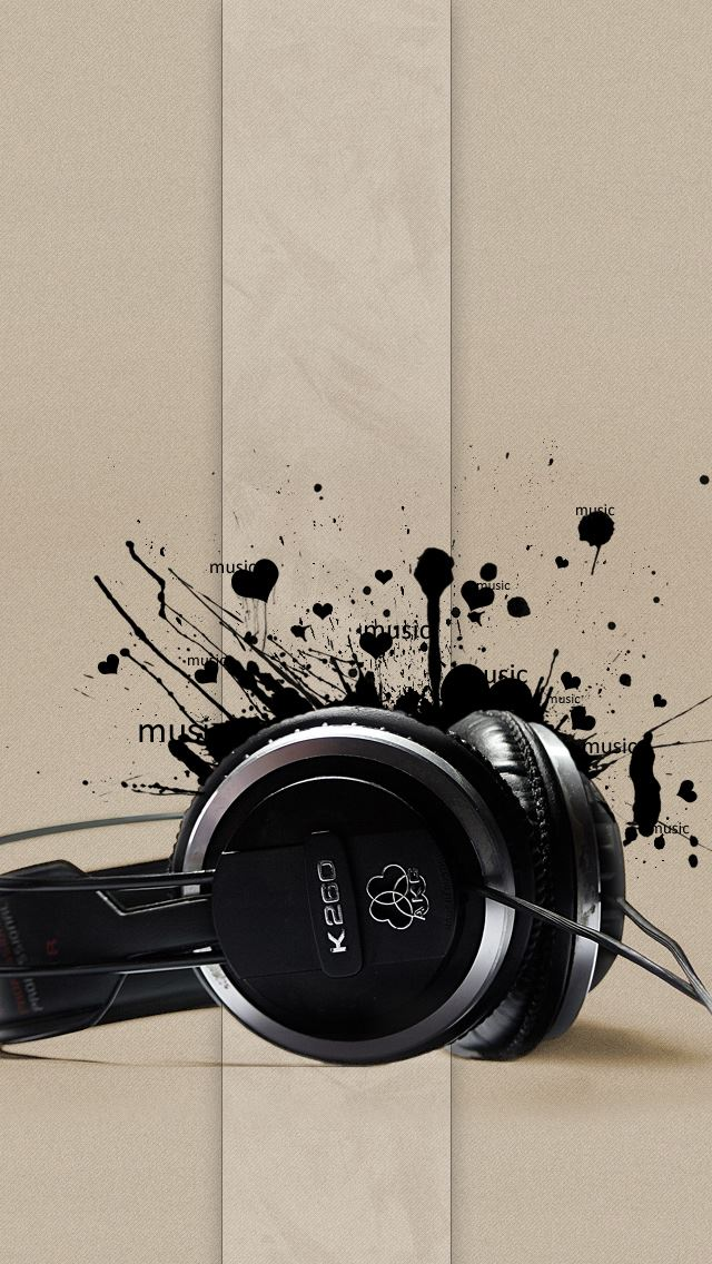Headphones Music IPhone Se Wallpaper