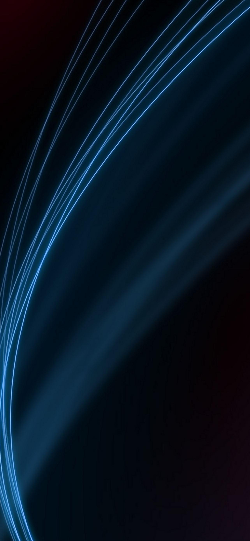 Blue Line Minimalistic IPhone Se Wallpaper