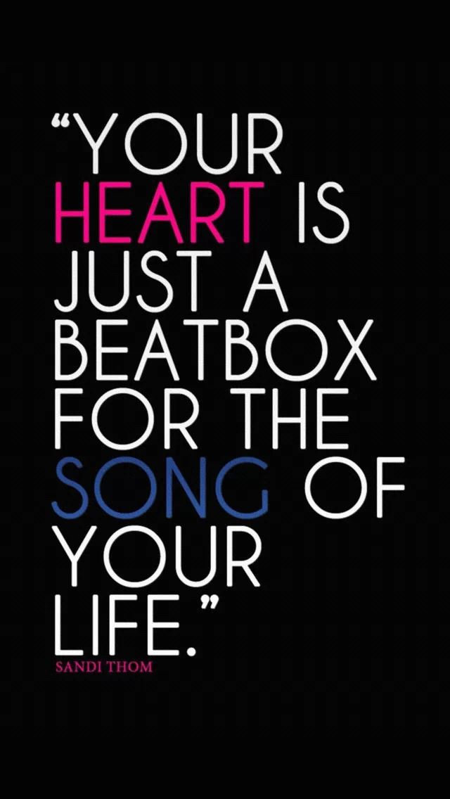 Your Heart Is Just A Beatbox For The Song Of Life IPhone Se Wallpaper