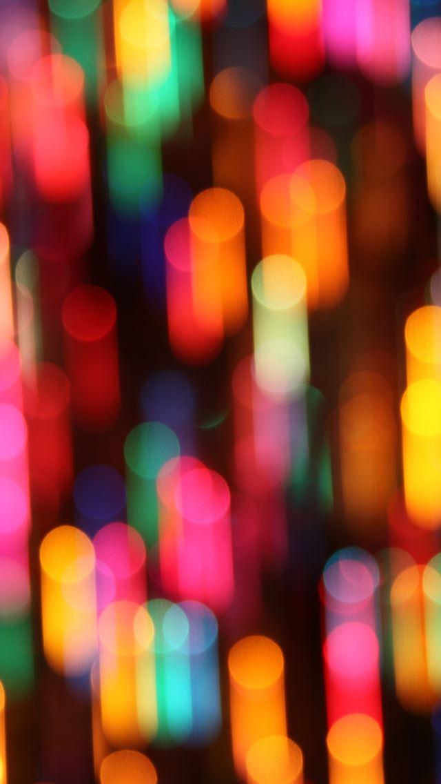 Colorful Christmas Lights IPhone Se Wallpaper