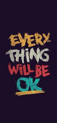 Everything will be ok iPhone se wallpaper