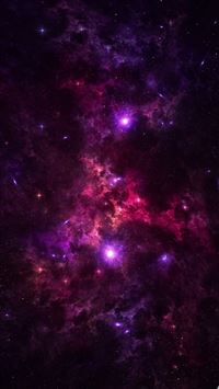 Purple Stars iPhone 5(s/c)~se wallpaper