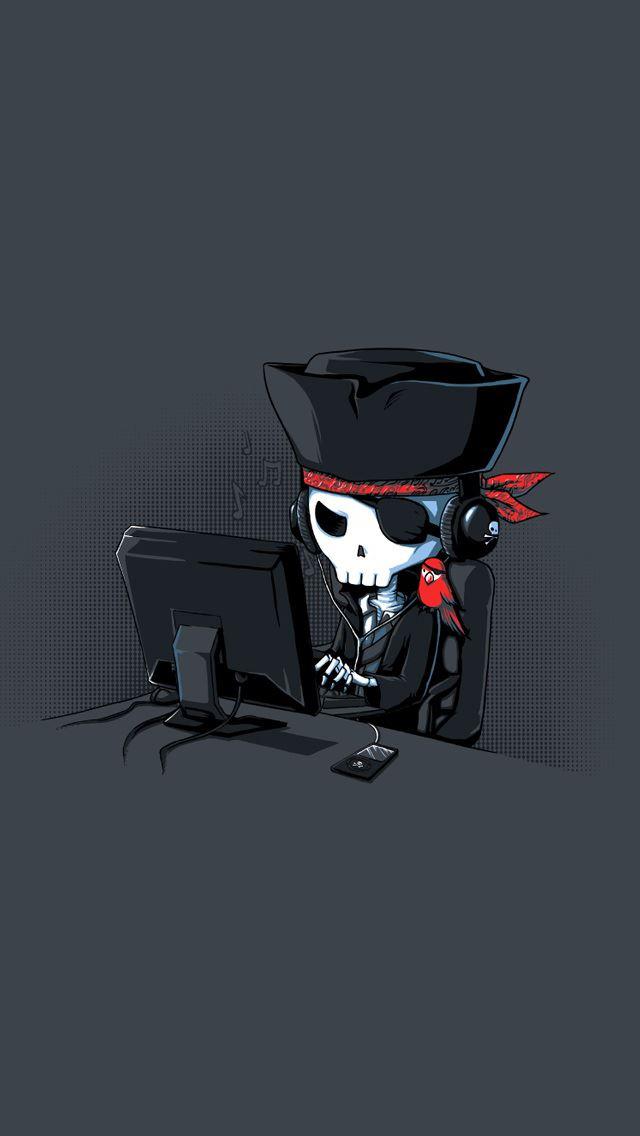 Fun Pirate Hacker IPhone Se Wallpaper