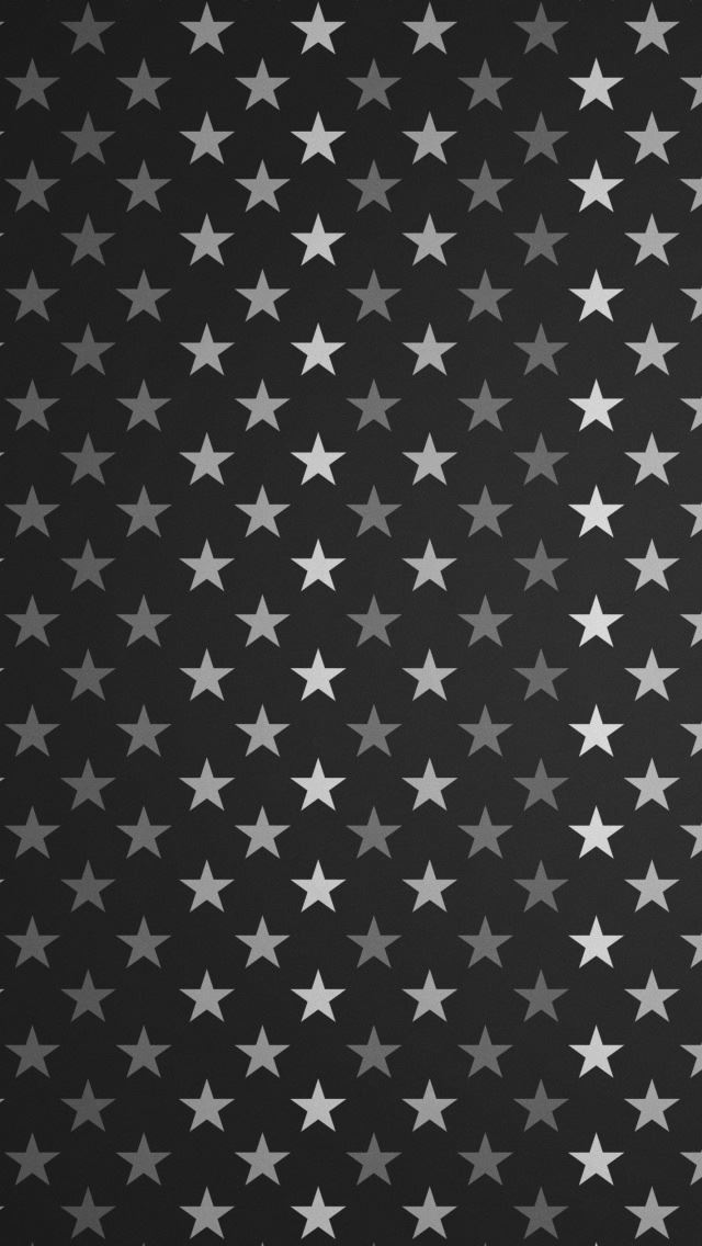 Stars Pattern Black And White IPhone Se Wallpaper