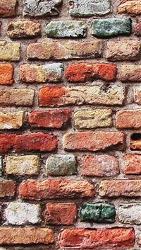 Colorful Brick Wall iPhone 5(s/c)~se wallpaper