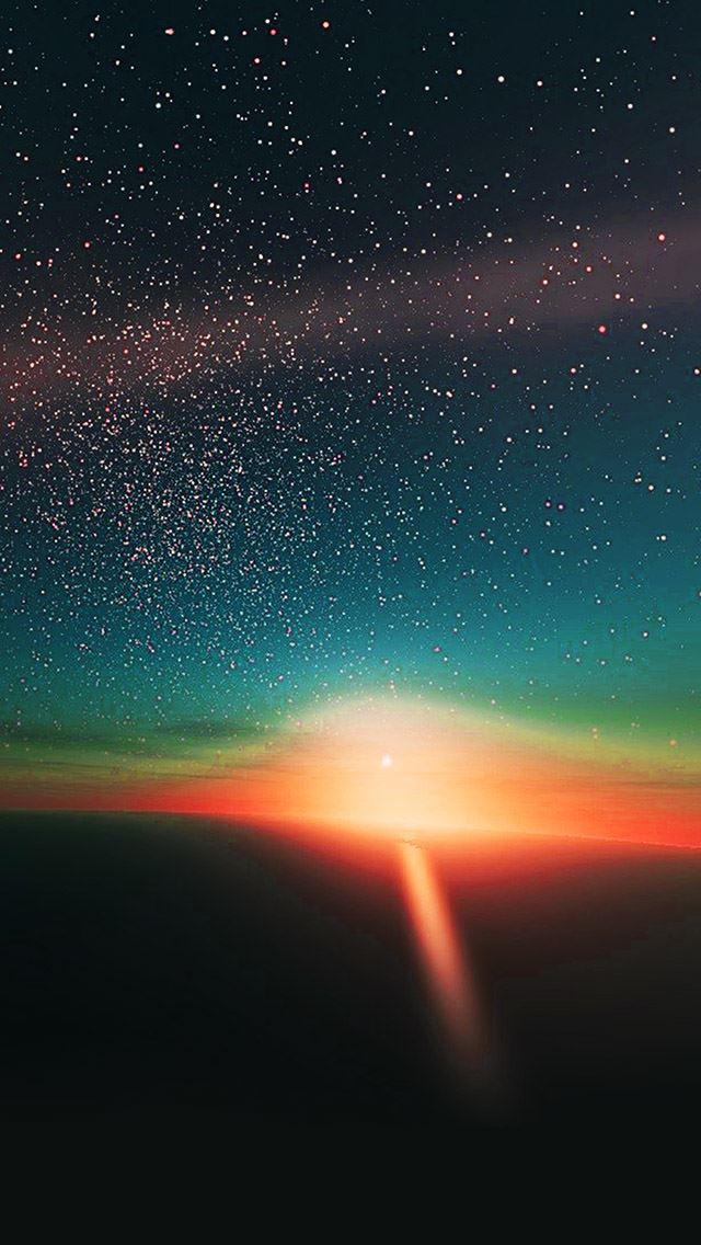 Star Shining In The Horizon IPhone Se Wallpaper