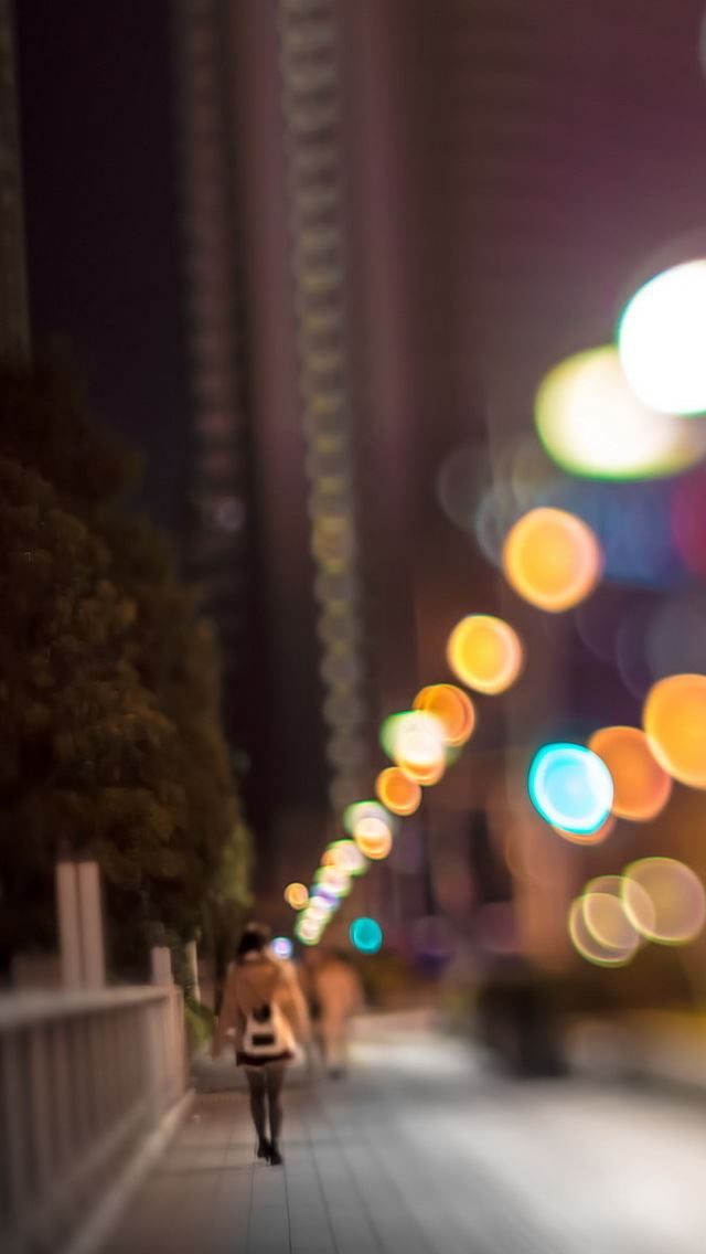 City Lights IPhone Se Wallpaper
