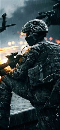 Battlefield 4 Soldier iPhone se wallpaper