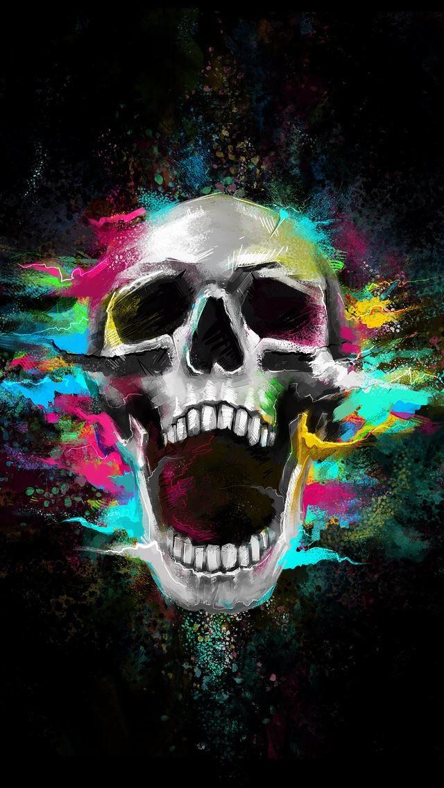 6068 116 Growl Shouting Skull IPhone 5s Cse Wallpaper