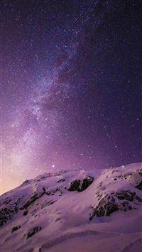Starry Norway iPhone se wallpaper