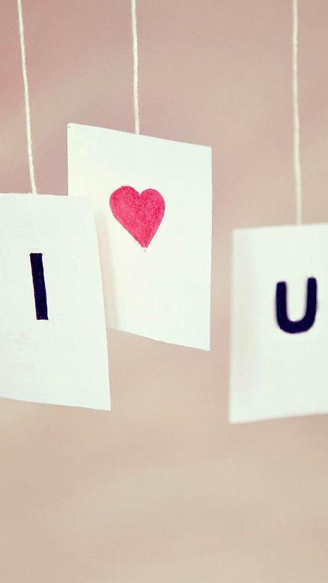 I Love U IPhone Se Wallpaper Download