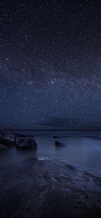 Starry Sky Night Lake iPhone se wallpaper