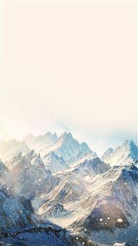 Nature Snow Ski Mountain Winter iPhone se wallpaper