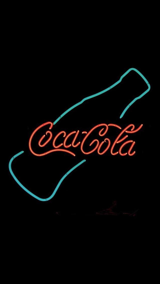 Coca Cola Neon Sign Design Art IPhone Se Wallpaper Download