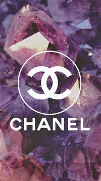 Coco Chanel Logo Diamonds  iPhone se wallpaper