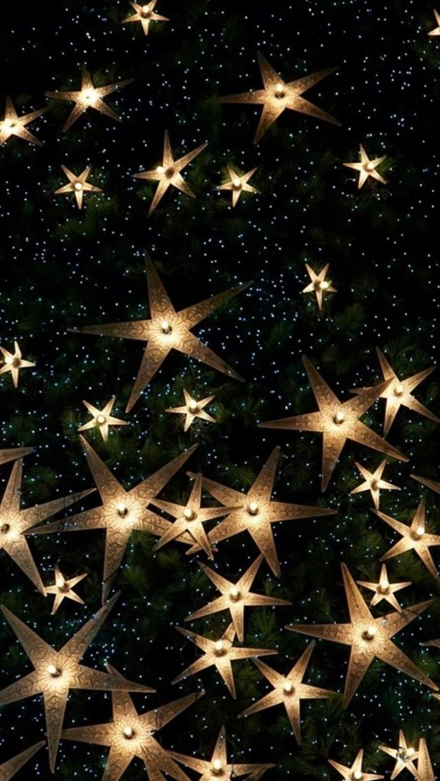 Happy New Year Starry Glitter IPhone Se Wallpaper