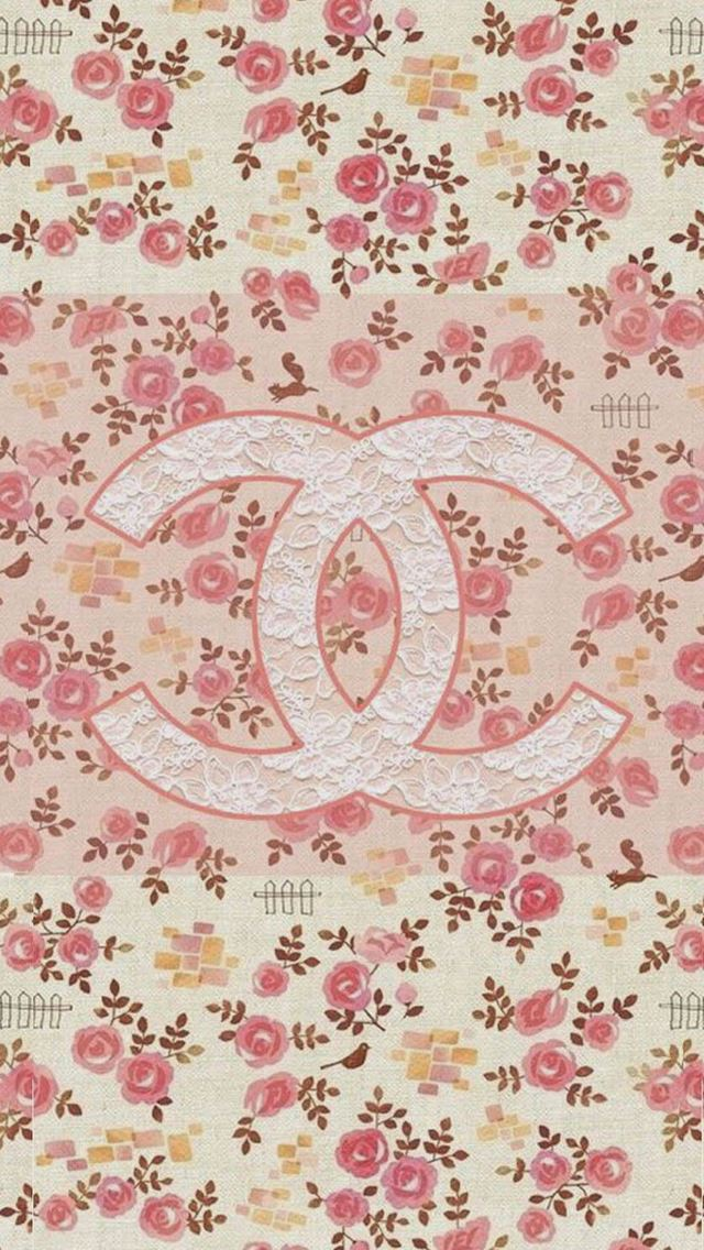 Coco Chanel Flowers Pattern Logo IPhone Se Wallpaper Download
