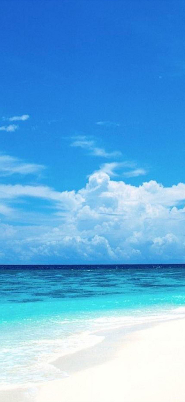 Nature Sunny Bright Beach IPhone Se Wallpaper Download