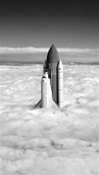 Rocket Launching Clouds High Sky iPhone se wallpaper