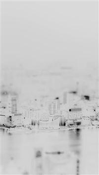 Hongkong Night Cityscape White Art iPhone se wallpaper