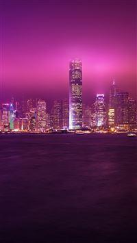 Hong Kong Night iPhone se wallpaper