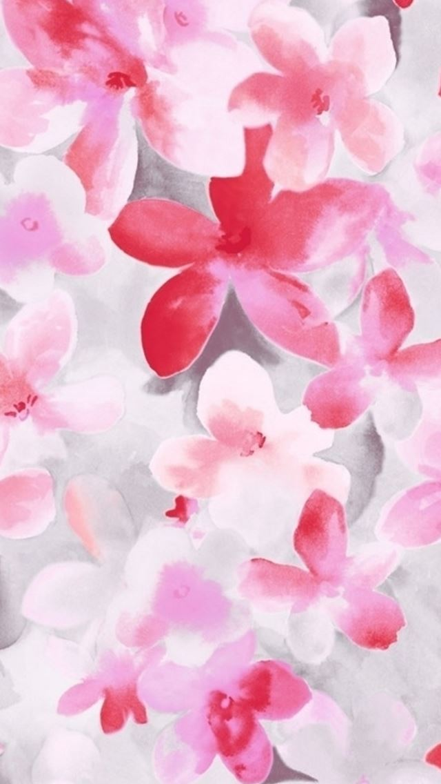 Pure Beautiful Flower Bunch Painting Art Drawn IPhone Se Wallpaper