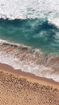 Beach Wave Coast Nature Sea Water Summer iPhone 5(s/c)~se wallpaper