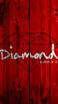 Abstract Diamond Text Art Red Wooden Wall iPhone se wallpaper