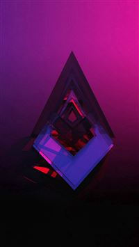 Diamond Shaped Symbol Abstract Red Gradation Background iPhone se wallpaper