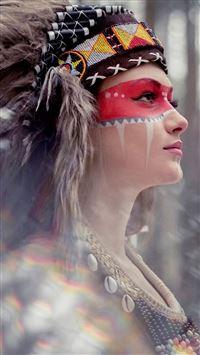 Tribal Beauty Photography iPhone se wallpaper