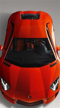 Pretty Red Lamborghini iPhone se wallpaper