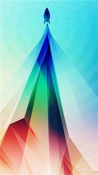 Rainbow Blue Tower Graphic Digital Pattern iPhone se wallpaper