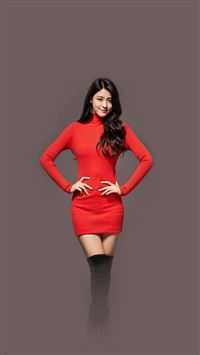 Seolhyun Aoa Red Christmas Cute Music iPhone se wallpaper