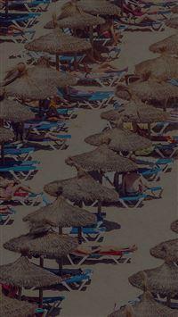 Spain Beach People Nature Dark Sea Summer iPhone se wallpaper