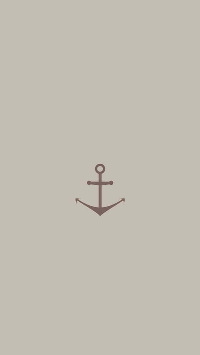 Minimal Sea Anchor Logo Red Art IPhone Se Wallpaper Download