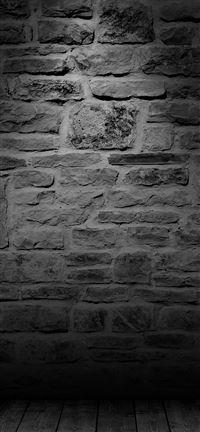 Wall Dark Bw Texture Pattern iPhone 5(s/c)~se wallpaper