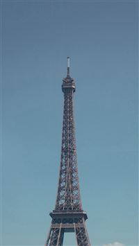 Eiffel Tower Paris City Blue Sky iPhone se wallpaper