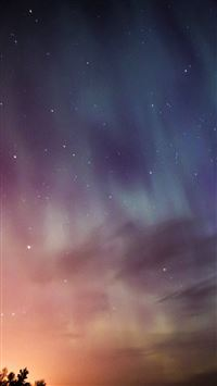 Sky Aurora Night Stars Wonderful iPhone se wallpaper